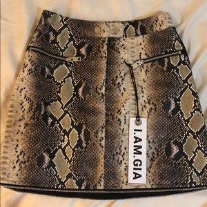 I.AM.GIA Snakeskin Skirt